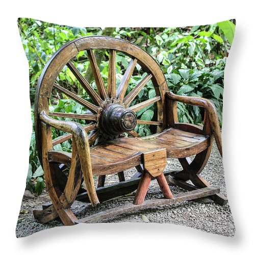 Wheel Bench - Throw Pillow