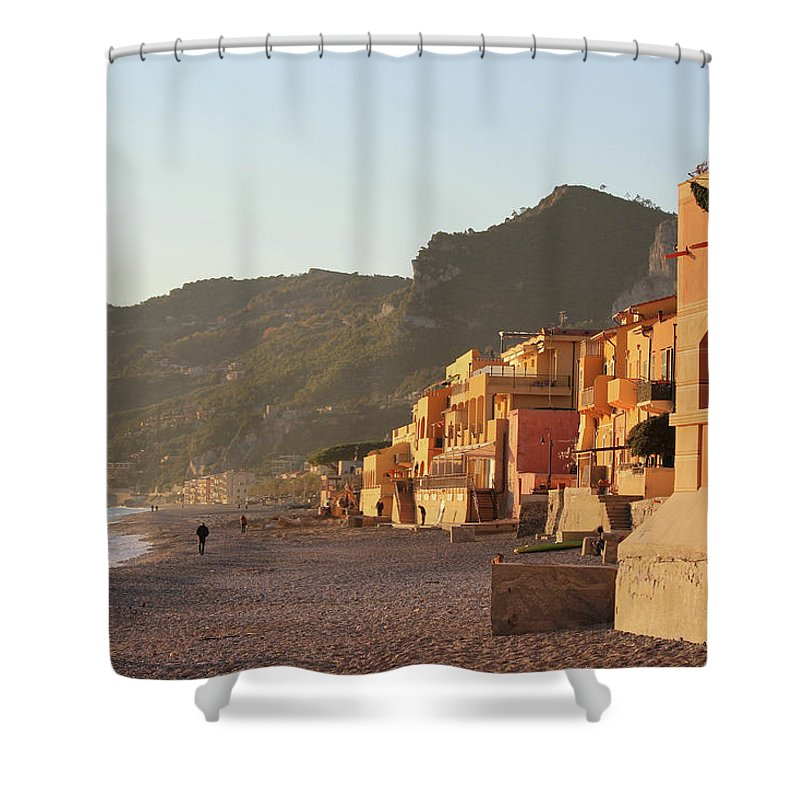 Winter Sunset - Shower Curtain