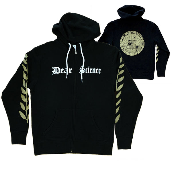 DEAR SCIENCE BLACK ZIP HOODIE