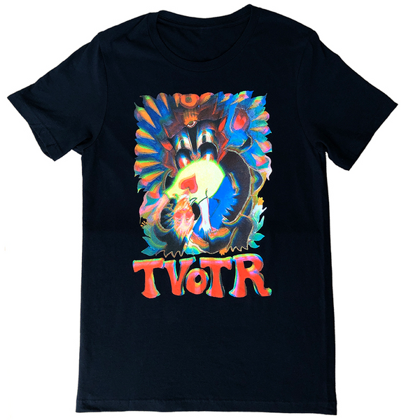 PSYCHEDELIC BLACK T-SHIRT