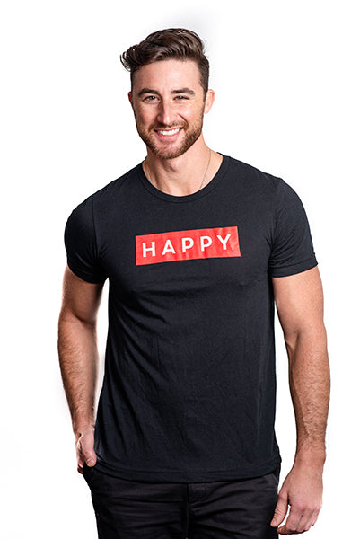 HAPPY Box Logo T-Shirt Men's