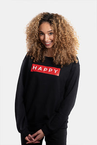 HAPPY Box Logo Crewneck