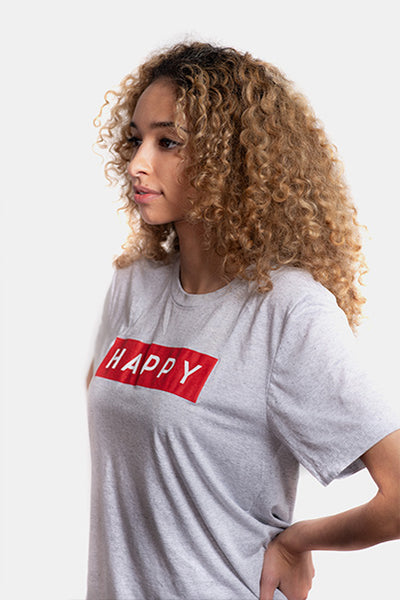 HAPPY Box Logo T-Shirt Women's