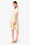 formal beige dress for girls