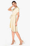 beige formal dress for women