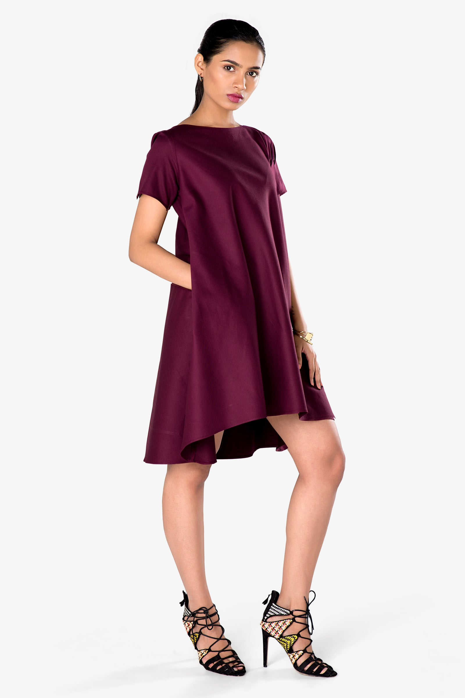 work dress maroon