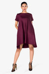 womens dress maroon
