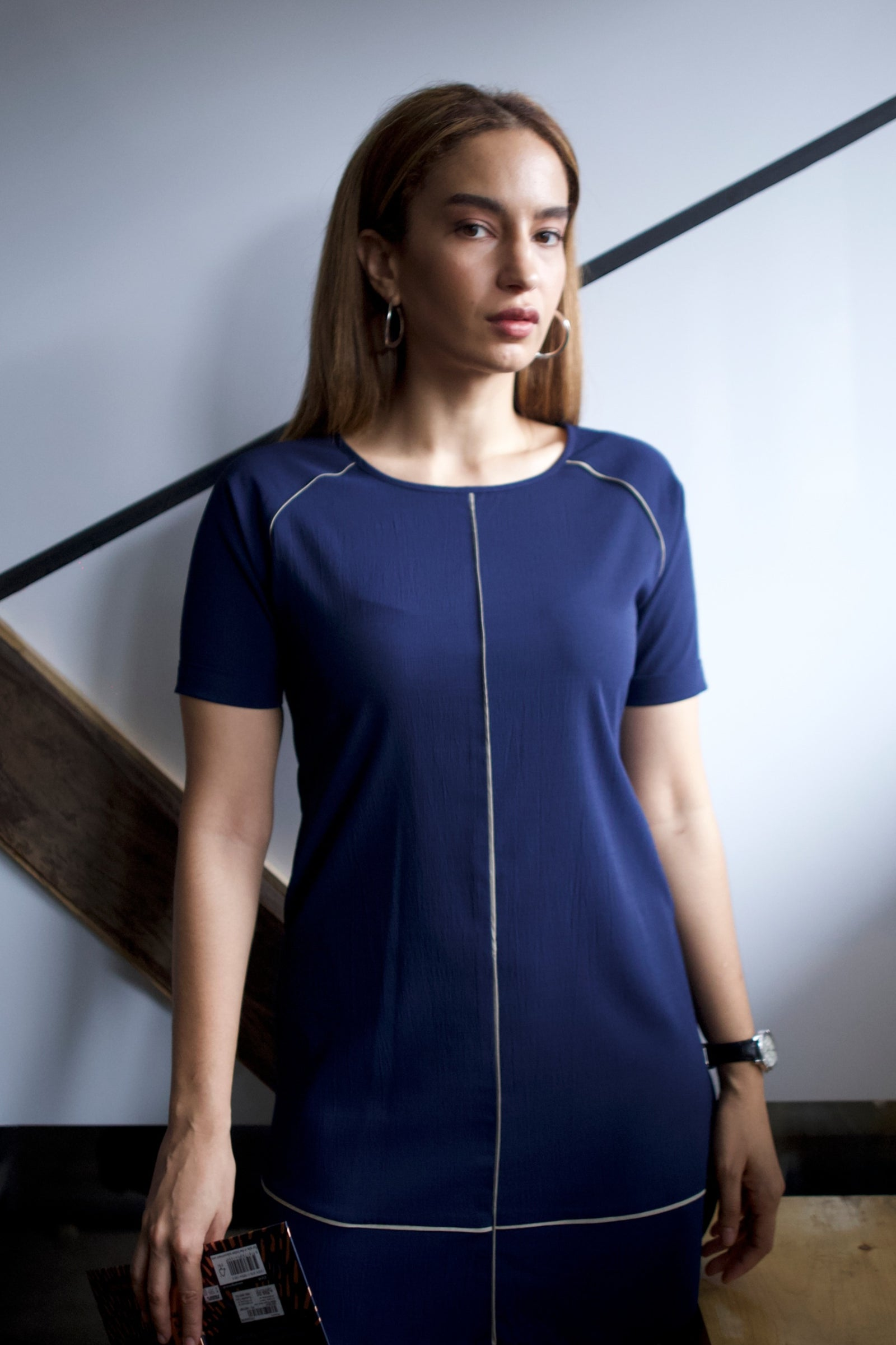 navy blue work dress