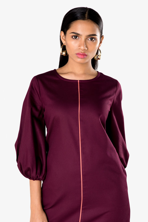 maroon work dress for ladies