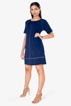 navy blue office wear for women