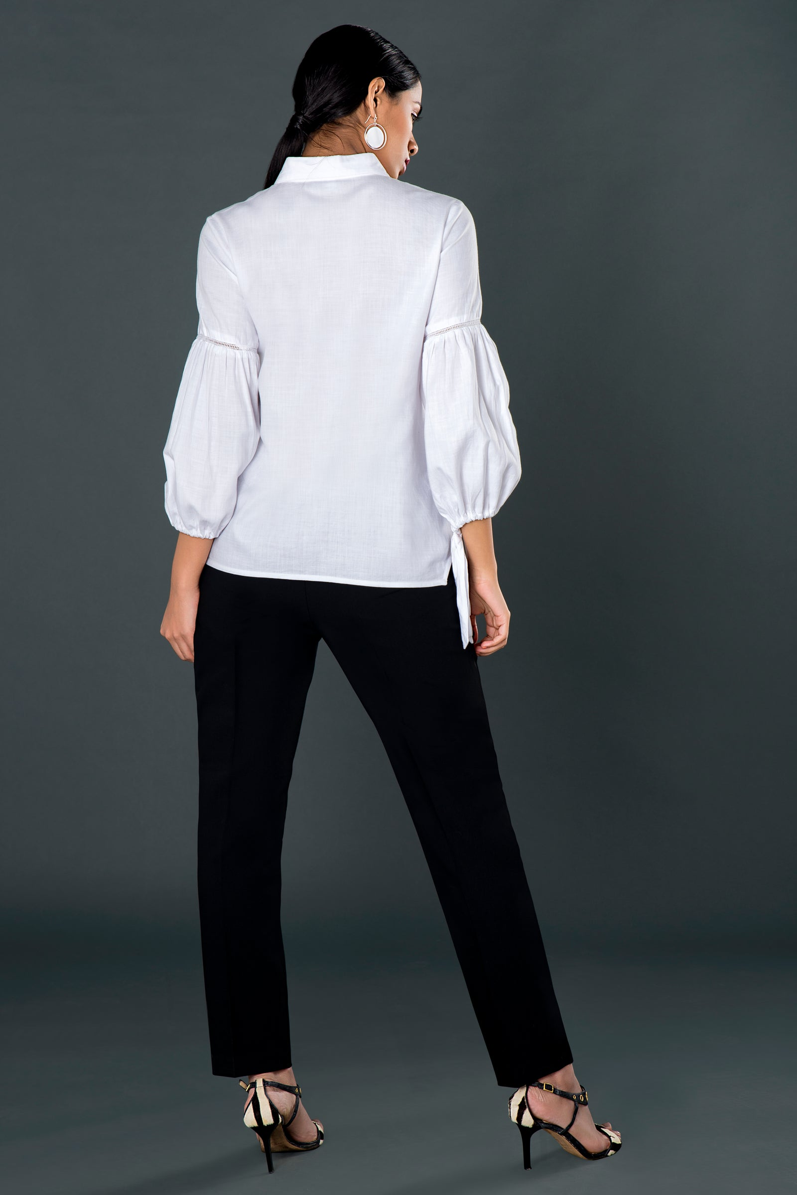 Tie-up White Shirt