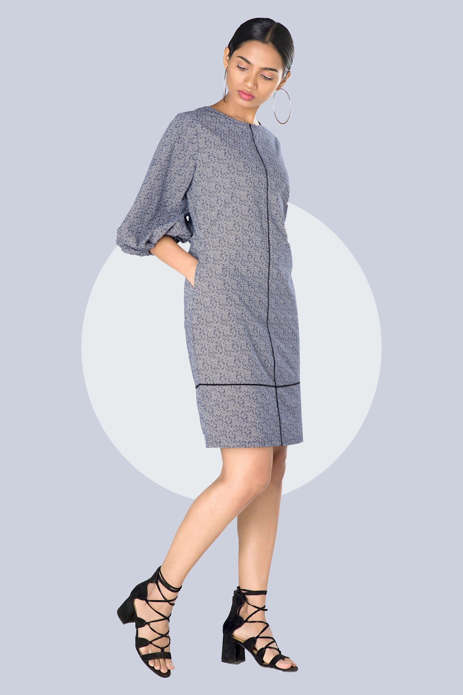 work dress grey women