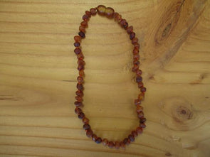 Amber Amber teething necklace (raw)