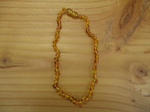 Honey Amber teething necklace (polished)