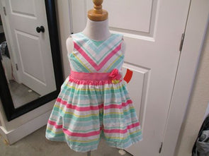 brand_carter's size_24m color_white/green Dress