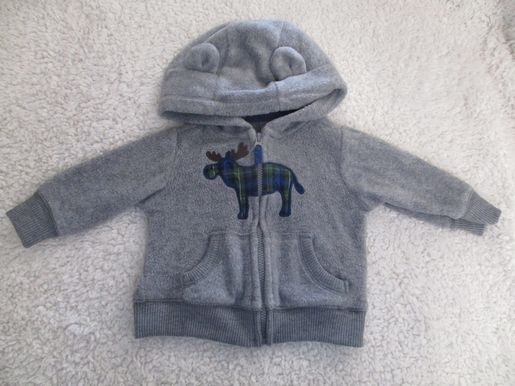 brand_carter's size_3 mos color_gray Sweater
