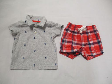 brand_carter's size_3m color_gray 2 PC ensemble