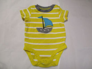 brand_carter's size_3m color_yellow Onesie loose
