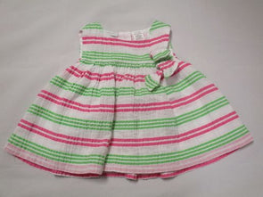 brand_first impsns size_3m color_green pattern_stripe Dress