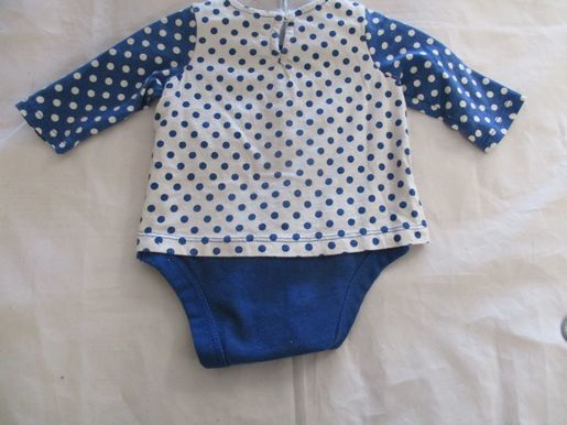brand_gap size_0-3m color_blue Polka Dot Onesie