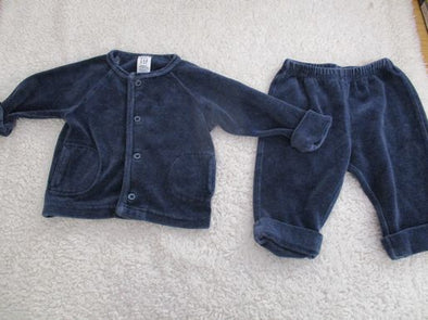 brand_gap size_3-6m color_blue 2 PC ensemble