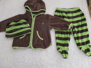 brand_gap size_3-6m color_brown 3 PC ensemble