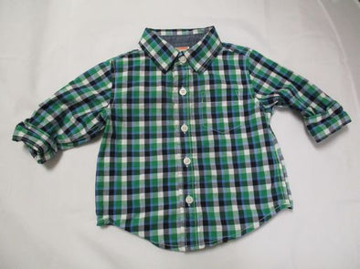 brand_gymboree size_6-12m color_green pattern_checkered Top