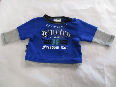 brand_hurley size_0-3m color_blue T-Shirt