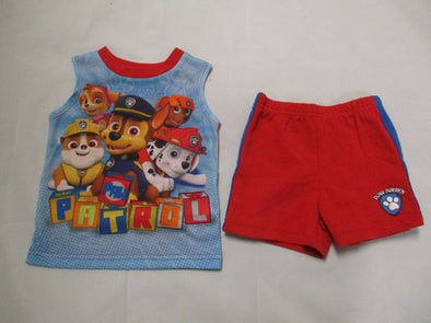 brand_nickelodeon size_6-9m color_blue 2 PC ensemble