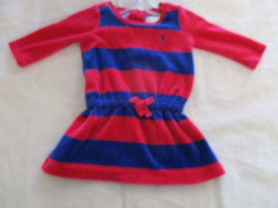 brand_ralph lauren size_3m color_red/blue Stripe Dress