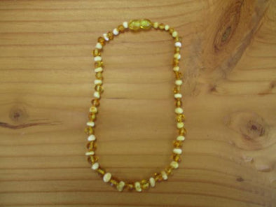 Lemon Amber teething necklace (polished)
