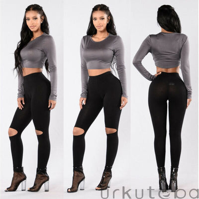 Women's Casual Leggings Workout Fitness Sports Gym Running Yoga Athletic Pants