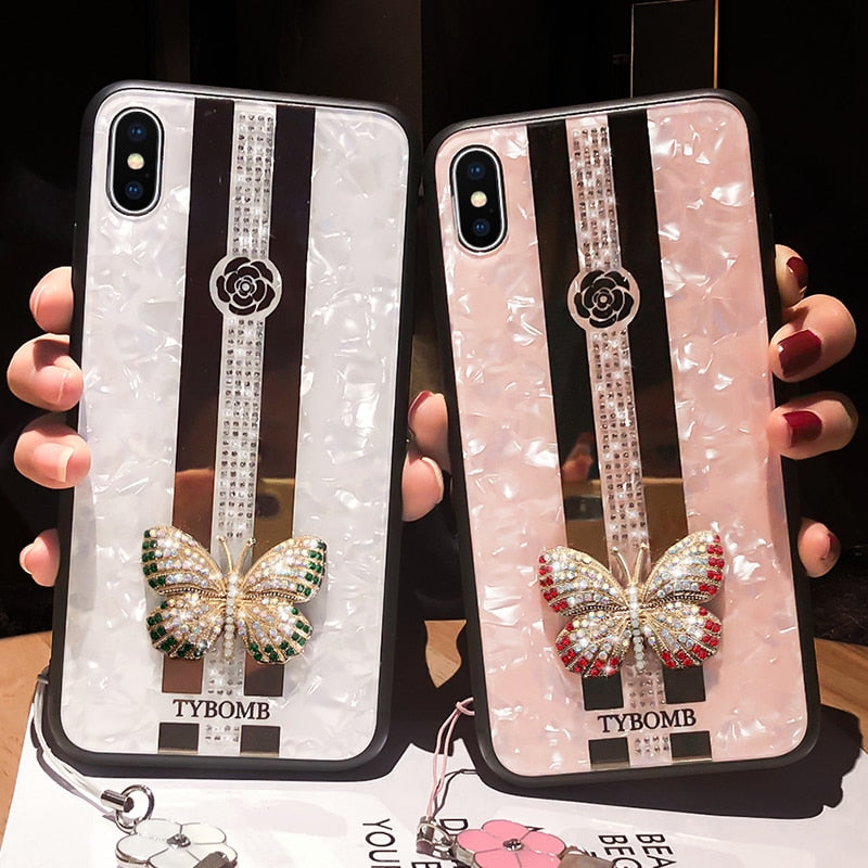 Luxe 3D Butterfly Iphone Case - Luxe Bae