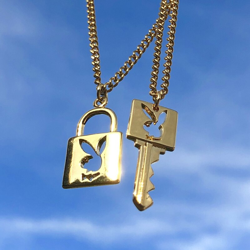 Padlock & key Necklace - Luxe Bae