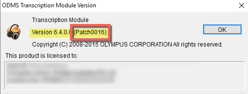 Olympus ODMS Transcription Dictation Module Windows 10 Patch Update