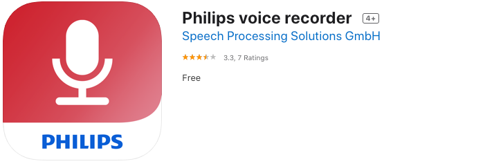 Philips Voice Recorder app and Dictation Hub