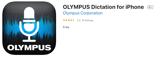 Olympus Dictation App with ODDS Free trial