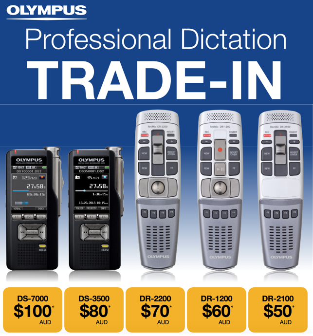 Olympus Australia Trade In Promotion - Professional Digital Dictaphone