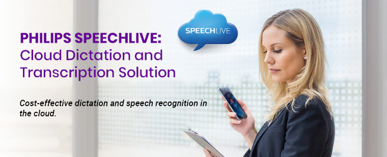 Digital workplace legal medical practice cloud dictation transcription voice recognition solution Philips Speechlive Australia