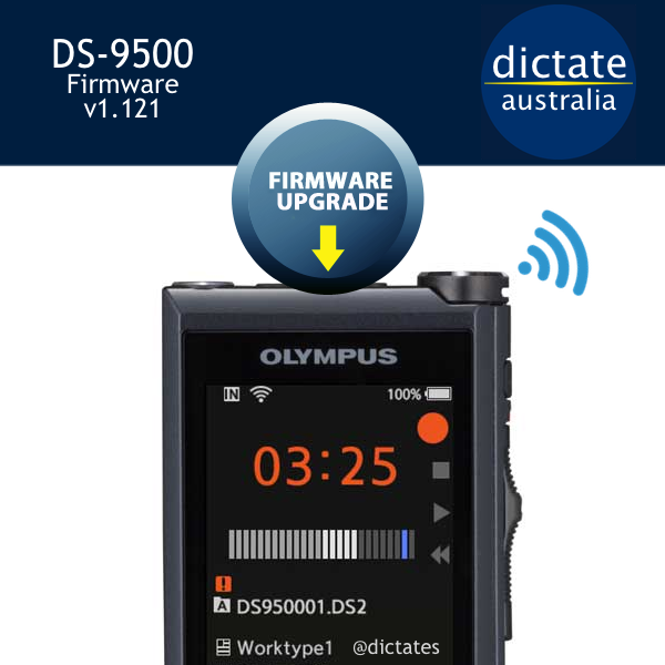 Download Olympus DS-9500 firmware update v1.121