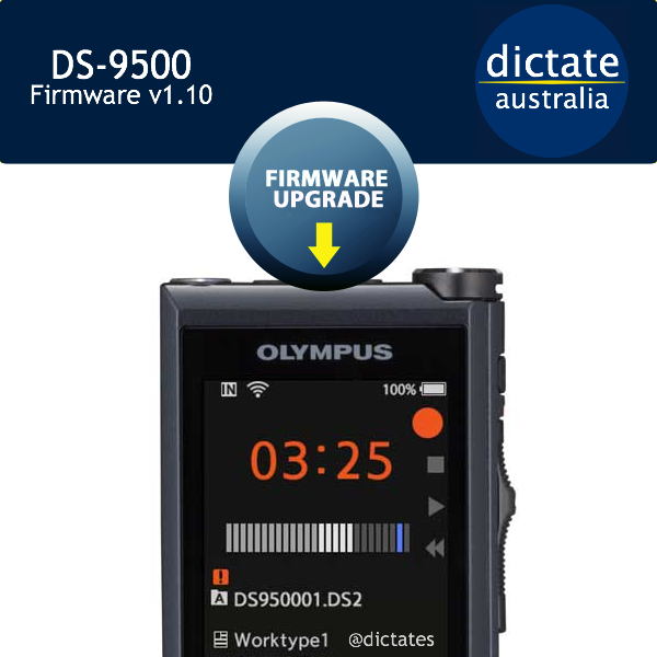 DS9500 Olympus DS-9500 Australia Free Firmware Update v1.10