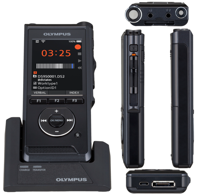 Olympus DS-9500 Digital Dictaphone Voice Recorder - Free