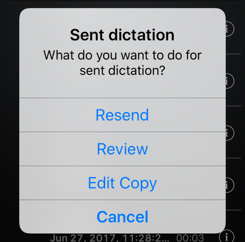 olympus australia dictation iPhone app resend review edit dictation audio
