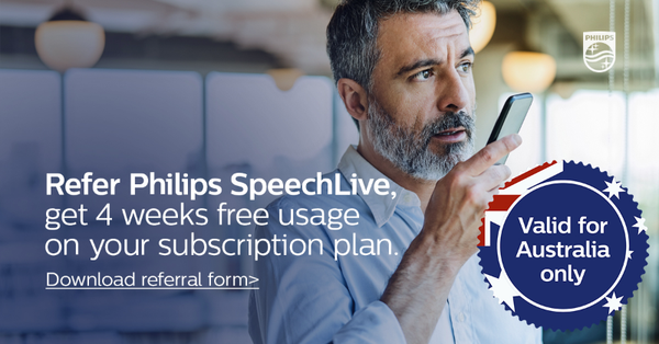 Philips SpeechLive Subscription 4 Weeks Free