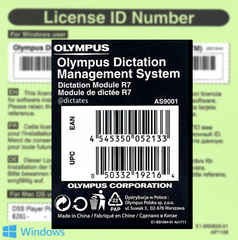 ODMS R7 DM - Dictation Module Licence Key AS-9001 for Windows 10