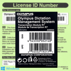 ODMS R7 TM - Transcription Module Licence Key AS-9002 for Windows 10
