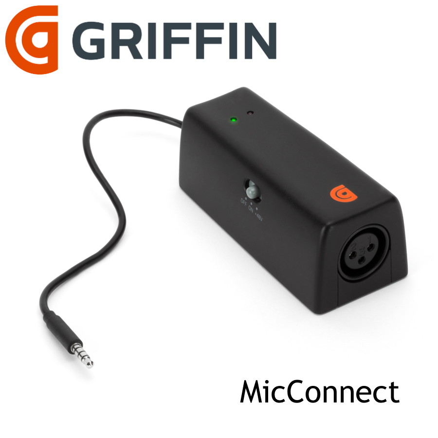 Griffin Micconnect Xlr Input To Ios Devices For Music And Podcast Mac Mini Mic Jack Wiring