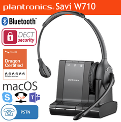 Plantronics Savi W710 Desk Headset for macOS