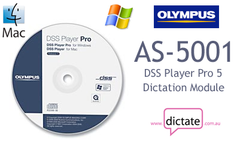 Olympus AS-5001 DSS Player Pro Version 5 Dictation Module