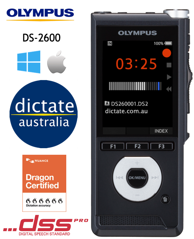Olympus DS-2600 Basic Digital Dictaphone for Windows & macOS